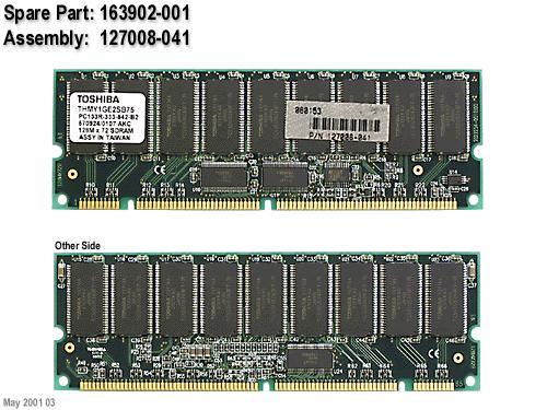 1GB SDRAM MEMORY RAM PC133 ECC 6NS REG DIMM 168-PIN